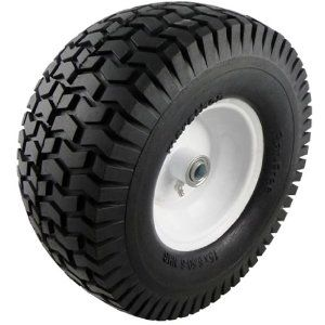 Marathon Industries 30426 15 By 6 1 2 6 Inch Flat Free Tire Turf Tread Tire On A 3 Inch Centered Rim With Precision 3 4 Inch Ball Be Lawn Mower Free Tire Tire
