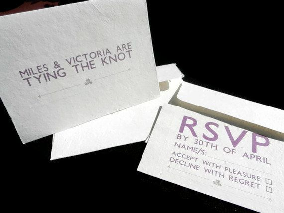 Wedding/Shower Invitations with RSVP Card  20  by Pulpa on Etsy, $130.00