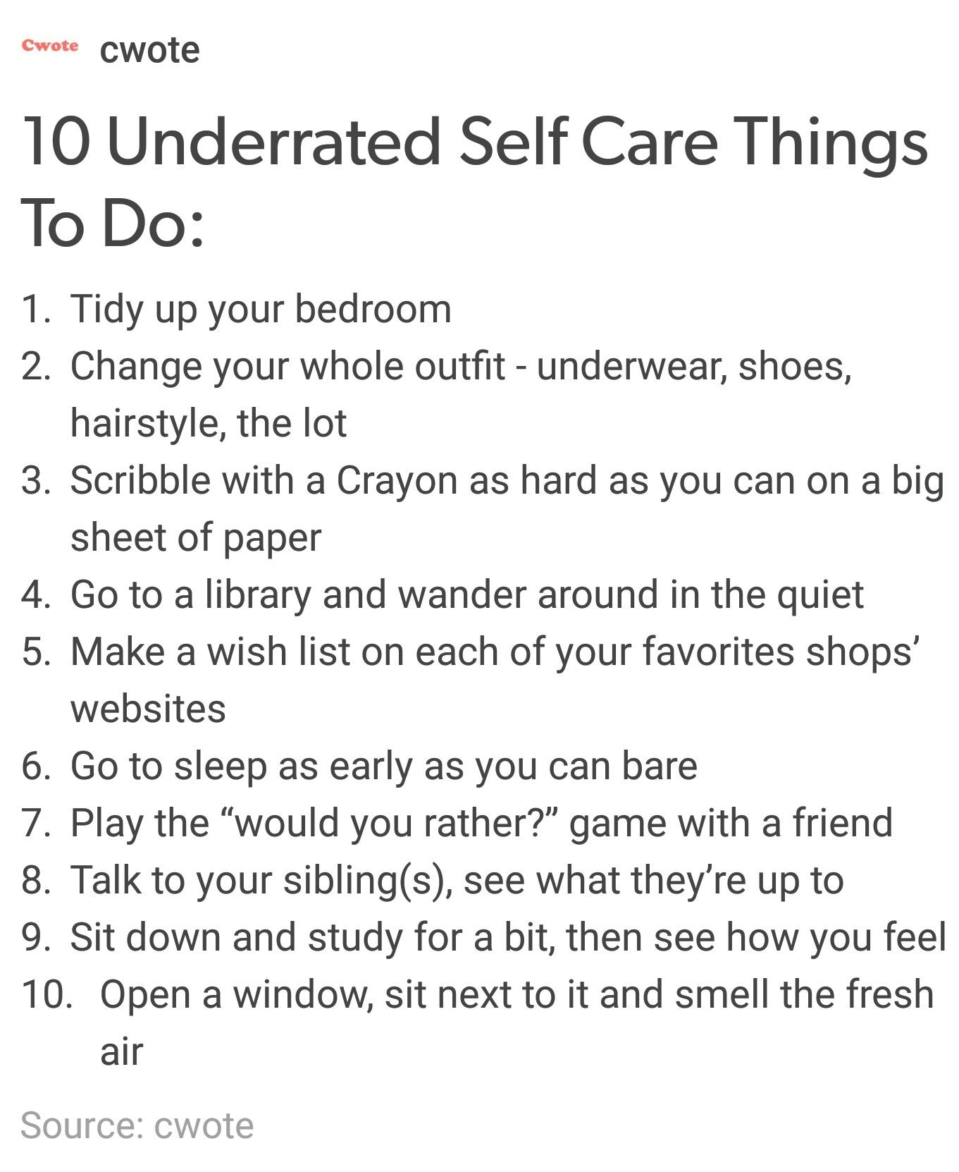 Jessicastudyblrtumblr Post 156965675624 10 Underrated Self Care Things To Do