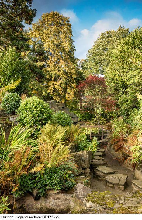 DP175229. Japanese Garden at Grantley Hall, Ripon, North ...
