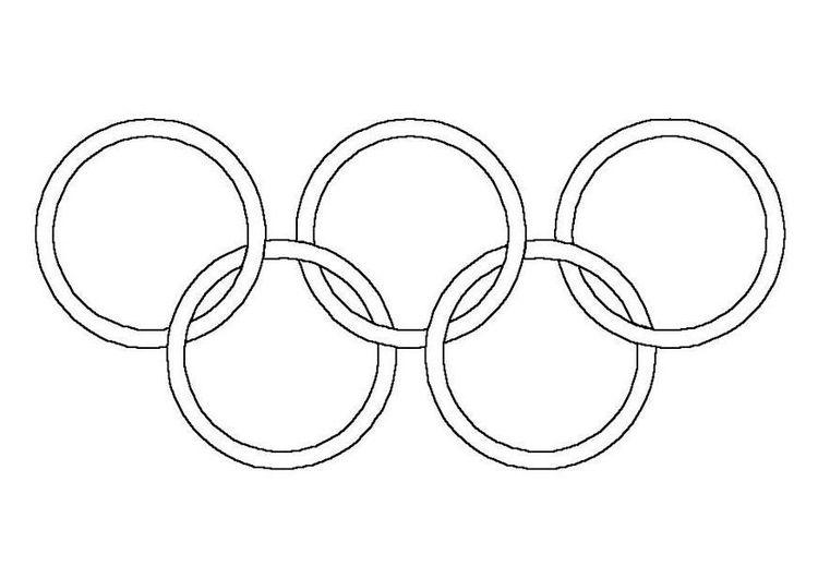 kleurplaat olympische ringen olympische spelen