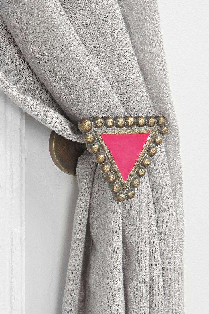 Magical Thinking Textured Triangle Curtain Tie-Back