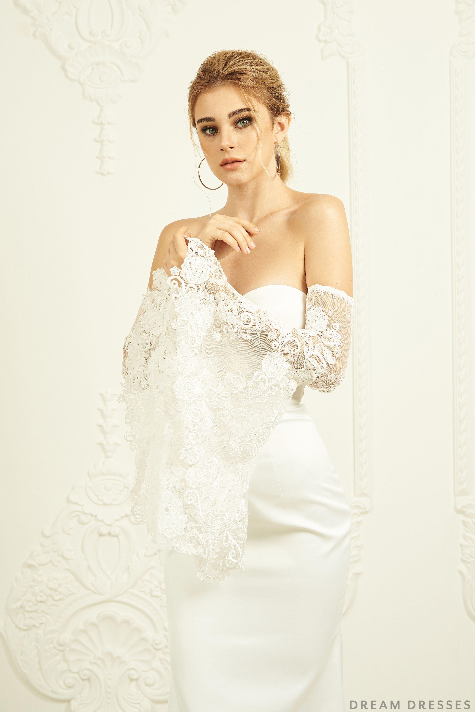 Detachable Bridal Bell Sleeves (KAYLEE) in 2020 Wedding