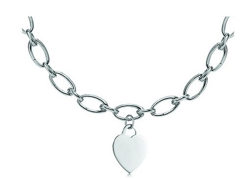 73181af40 Tiffany Necklaces Jewelry Silver Thick Chain Heart Necklace This Tiffany  Jewelry Product Features: Category:Tiffany & Co Necklaces Material: Sterling  Silver ...