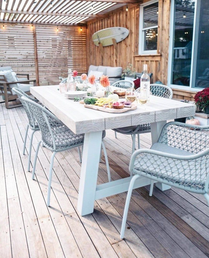 Tavola Driftwood Gray Dining Table For 8 In 2020 Grey Dining