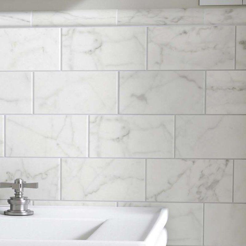 Karra Carrara 3 Quot X 6 Quot Ceramic Subway Tile In 2019