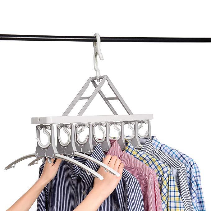 Wardrobe space saving hangers for men