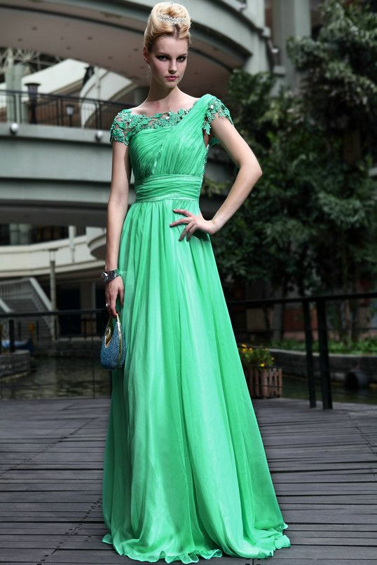 Jade Green gown