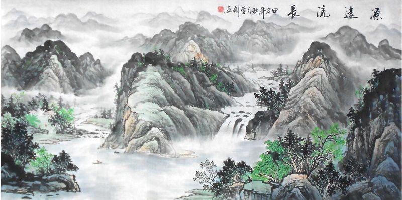 River Modern Art Famous Artists Original Painting Landscape Painting Landscape Paintings Chinese Landscape Painting Chinese Landscape