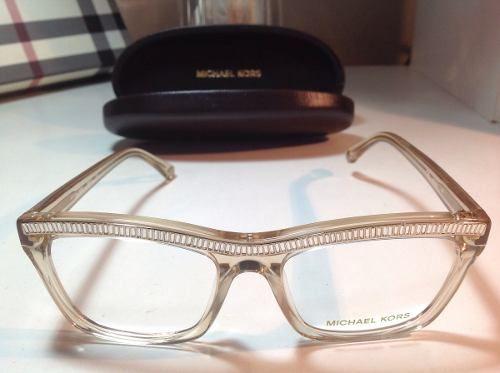 44a224f5ddf02 Michael Kors Óculos De Grau Dourado Com Cristais Armação   Moda ...