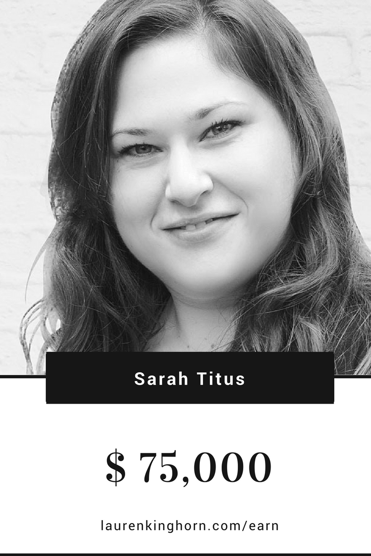 Sarah Titus is living proof that bloggers earn income blogging