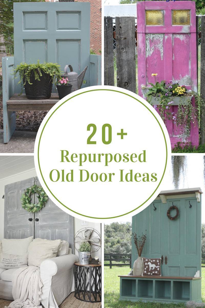 Repurposed Old Door Ideas Old Wood Doors Old Door Decor Doors Repurposed