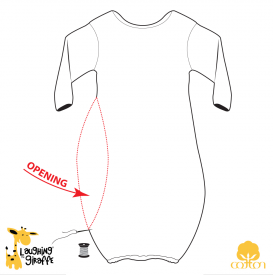 5095c7517e55 Wholesale Blank Baby Gowns - Sleeper gown with elastic bottoms ...