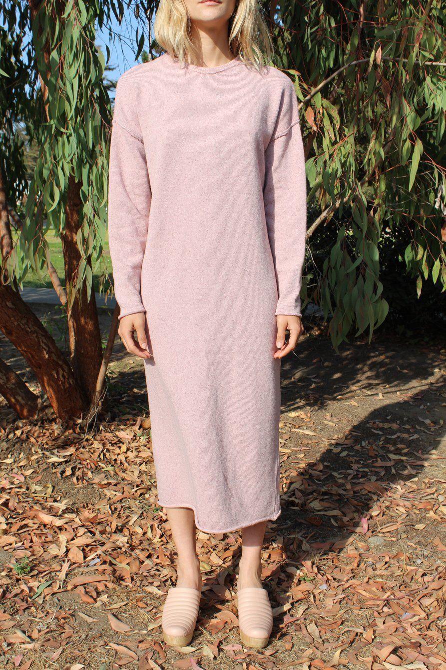 Pink sweater dress outfit  Micaela Greg Sweater Dress Speckle Rose  smallmedium  speckle