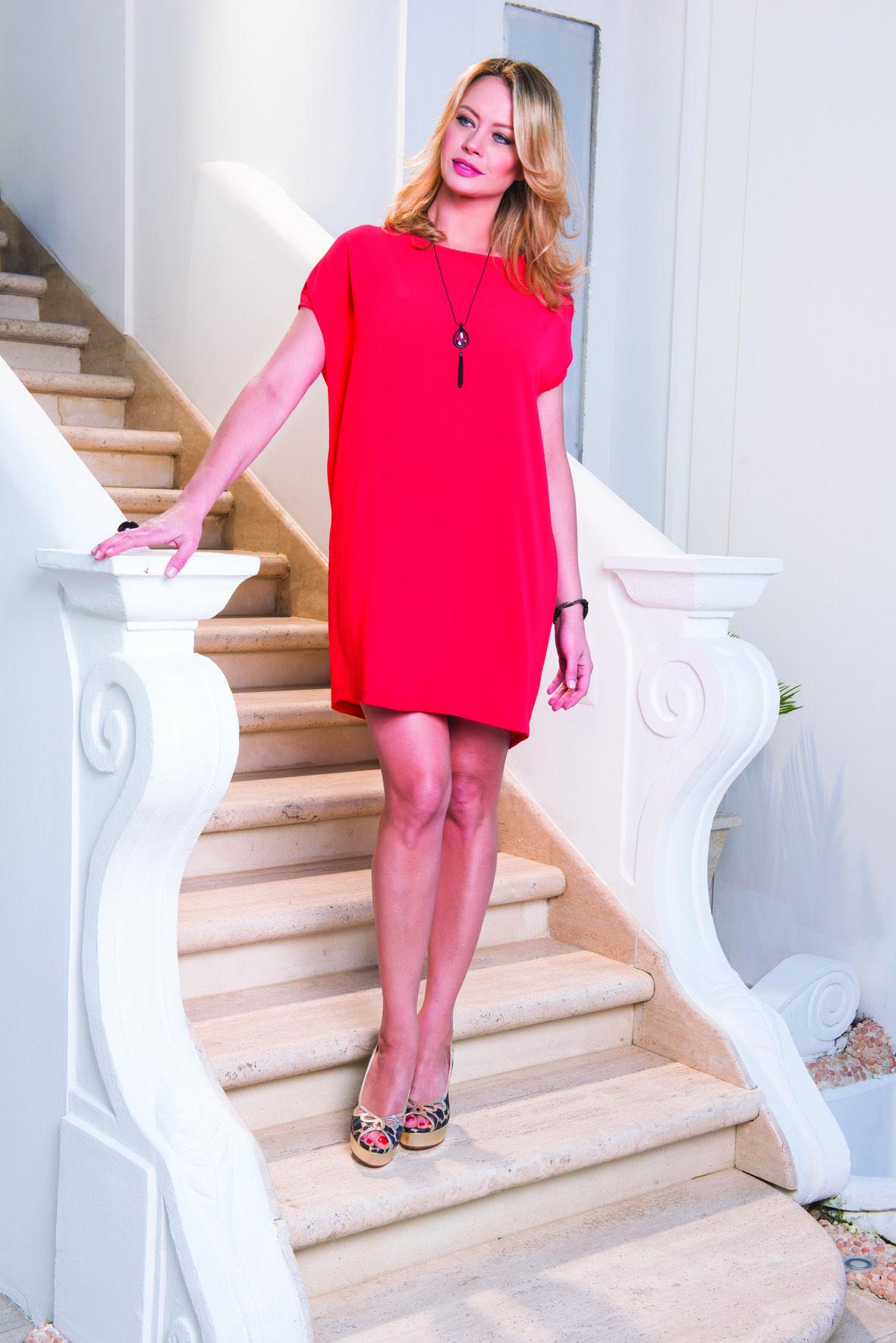 new product dada7 42237 abito rosso   Collezione Mara Carol primavera estate 2016 ...