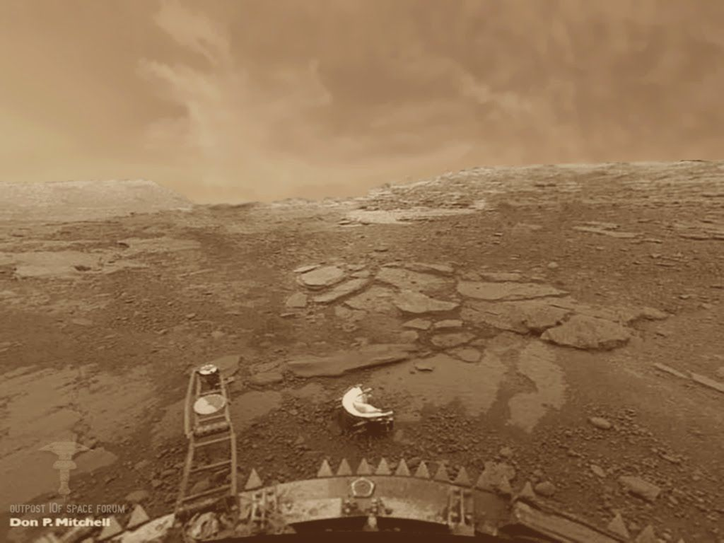 surface of venus russian probe - photo #1