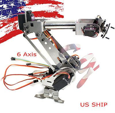Details about R2 Fully Assembled 6 Axis Mechanical Robotic Arm Clamp