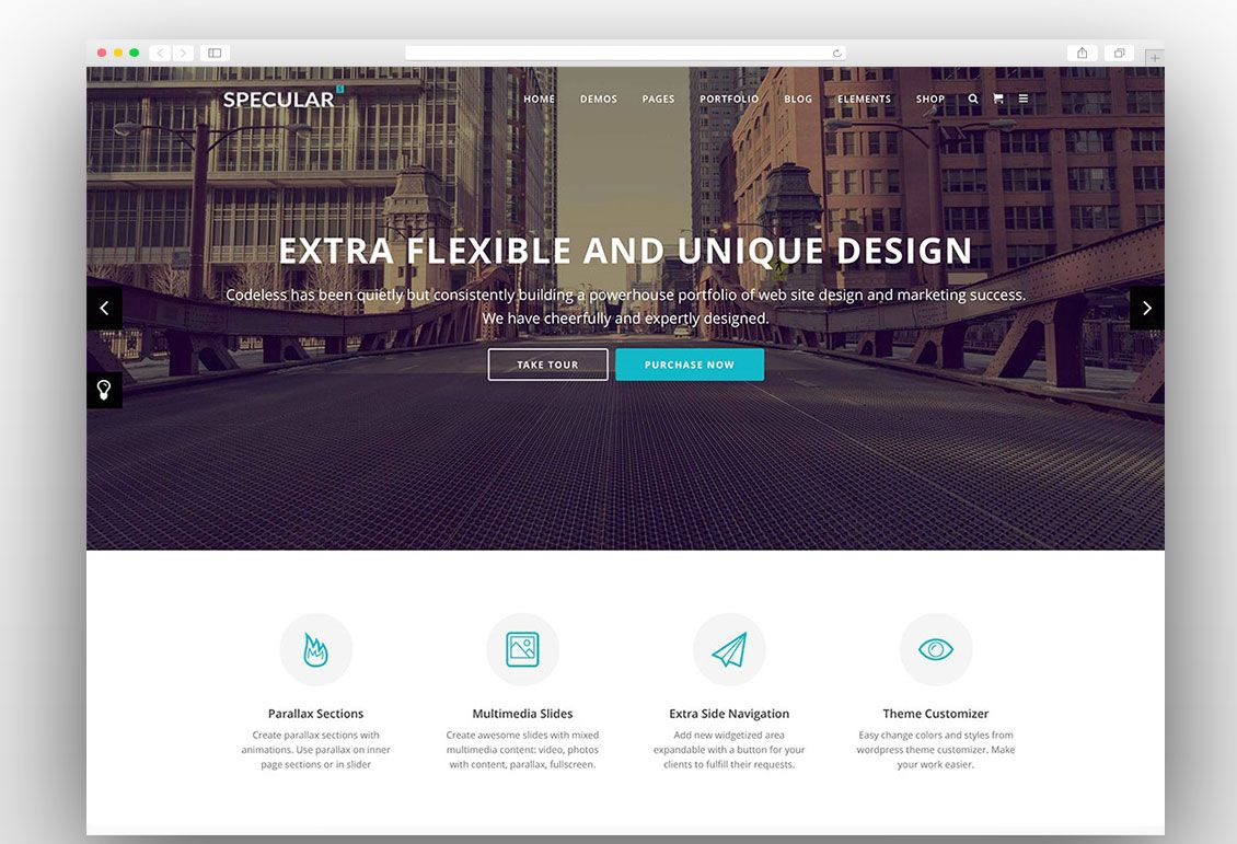 Specular | WordPress Business Themes | Pinterest