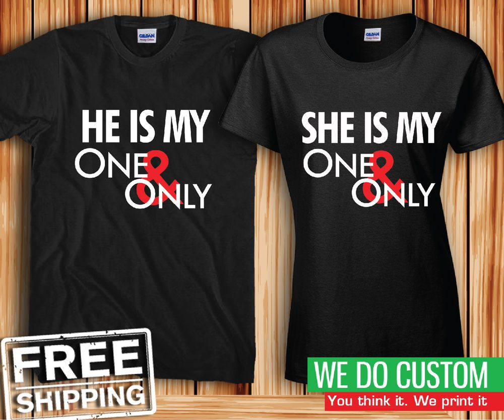 1d9f746590 He's My One and Only - She's My One and Only Cute Couples T-shirts-Price  for 2 #Gildan #Tshirt