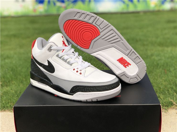 the best attitude 18516 ade80 2018 Air Jordan 3 Tinker NRG White Fire Red Cement Grey-Bl