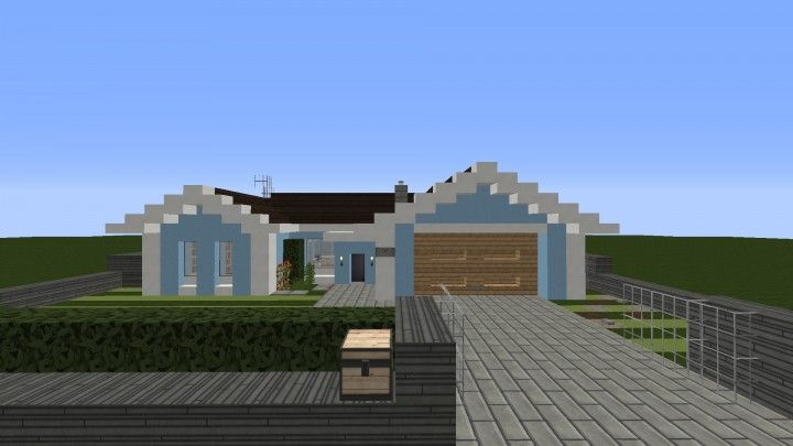 Small cozy suburban house minecraft blueprints building for Suburban house blueprints
