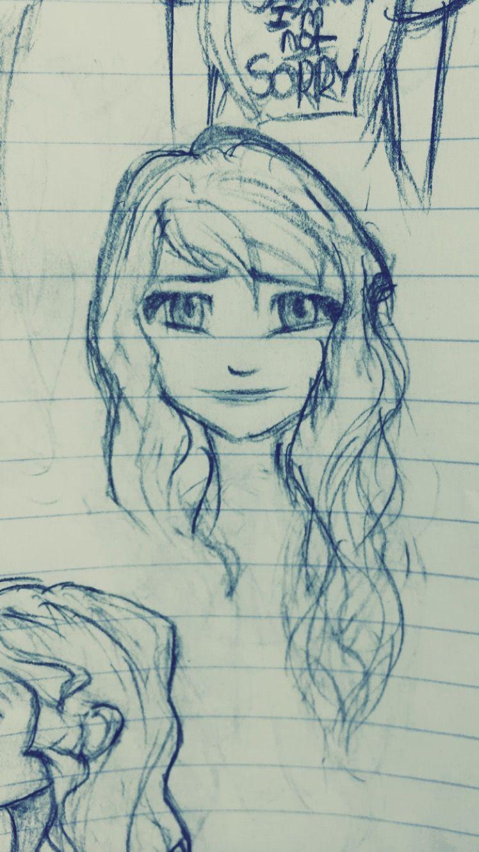 How To Draw Elsa In White Dress Hair Down Disney Frozen In 2020 Cute Disney Drawings Kawaii Drawings Kawaii Girl Drawings