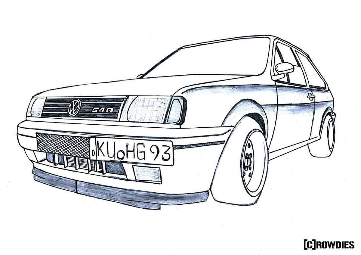 Drawing Zeichnung Tuning Drawings Car Art Print