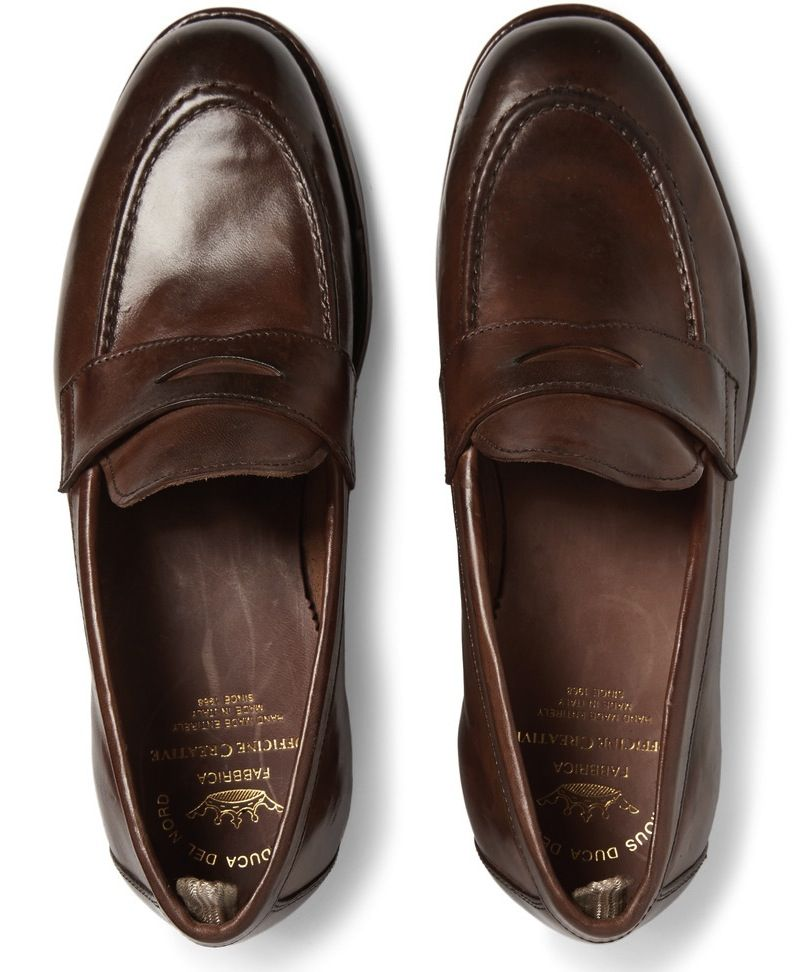 e384dfc3128 Officine Creative Ivy polished-leather penny loafers.