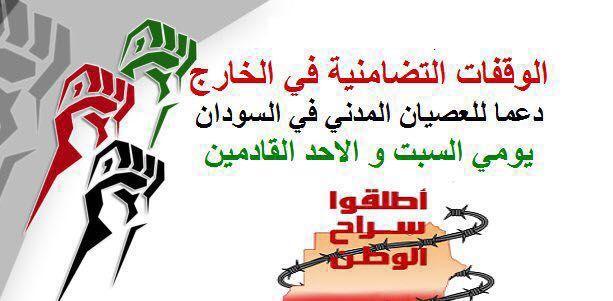 وقفات تضامن دولية مع عصيان ١٩ ديسمبر