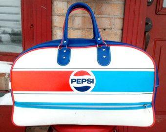 Bolso de mano Vintage Persi Cola bolsa de deportes Adidas estilo bolsa de  deporte Vintage 1970 raro 27baa55baea07