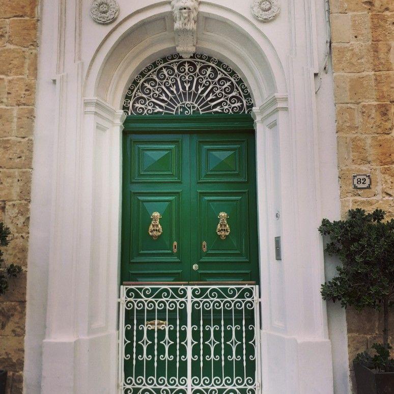 Typical Door In Malta In 2020 Green Door Doorknockers Front Door