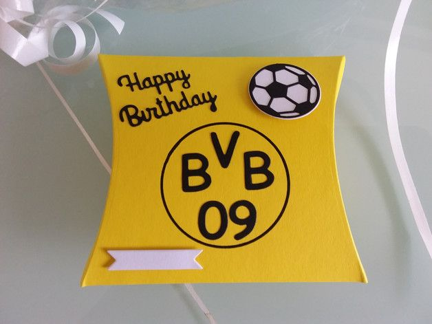 geschenkbox pillowbox zum geburtstag f r einen fu ballfan von borussia dortmund ob geld. Black Bedroom Furniture Sets. Home Design Ideas