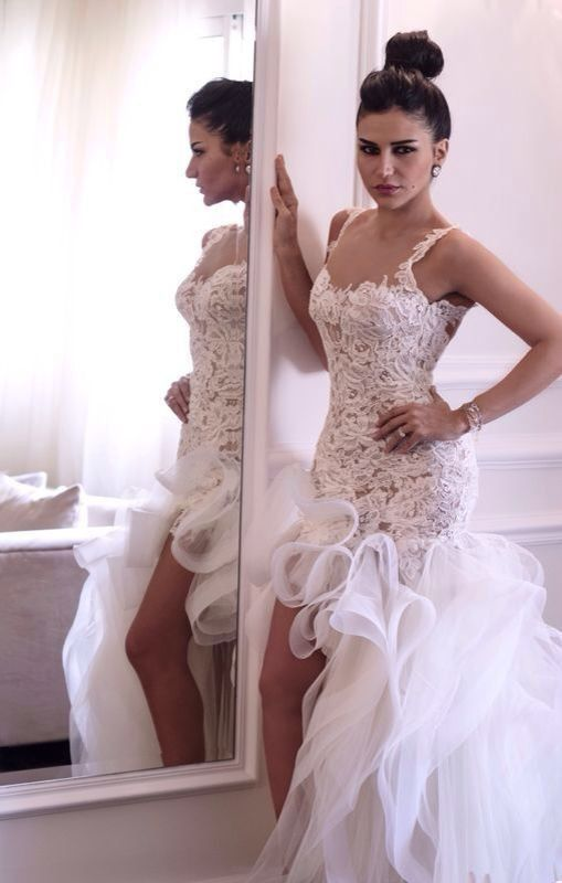 2015 High Low Lace Wedding Dress Backless Casamento Special Occasion Wedding Dresses Bridal Gowns Vestido De Noiva Custom Make-in Wedding Dresses from Apparel & Accessories on Aliexpress.com | Alibaba Group