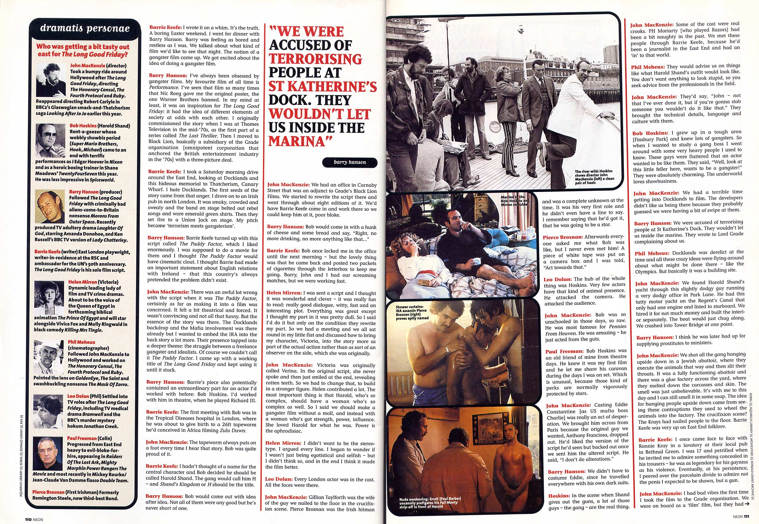 Remembering Neon magazine Movie review of 'The Long Good