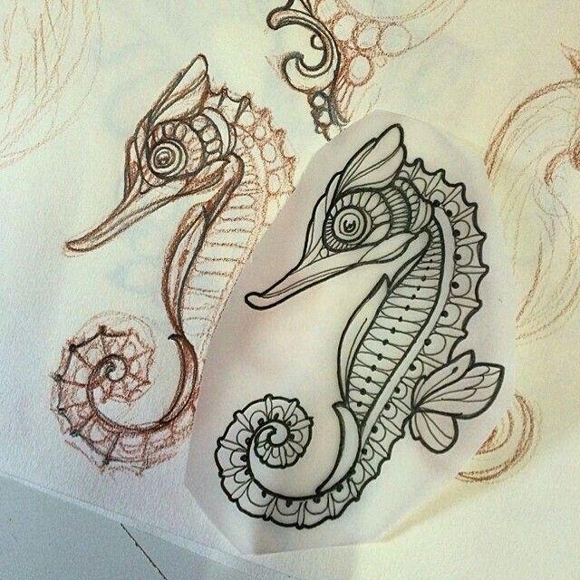 Clip art galore seahorse design clip art galore for Cavalluccio marino maori