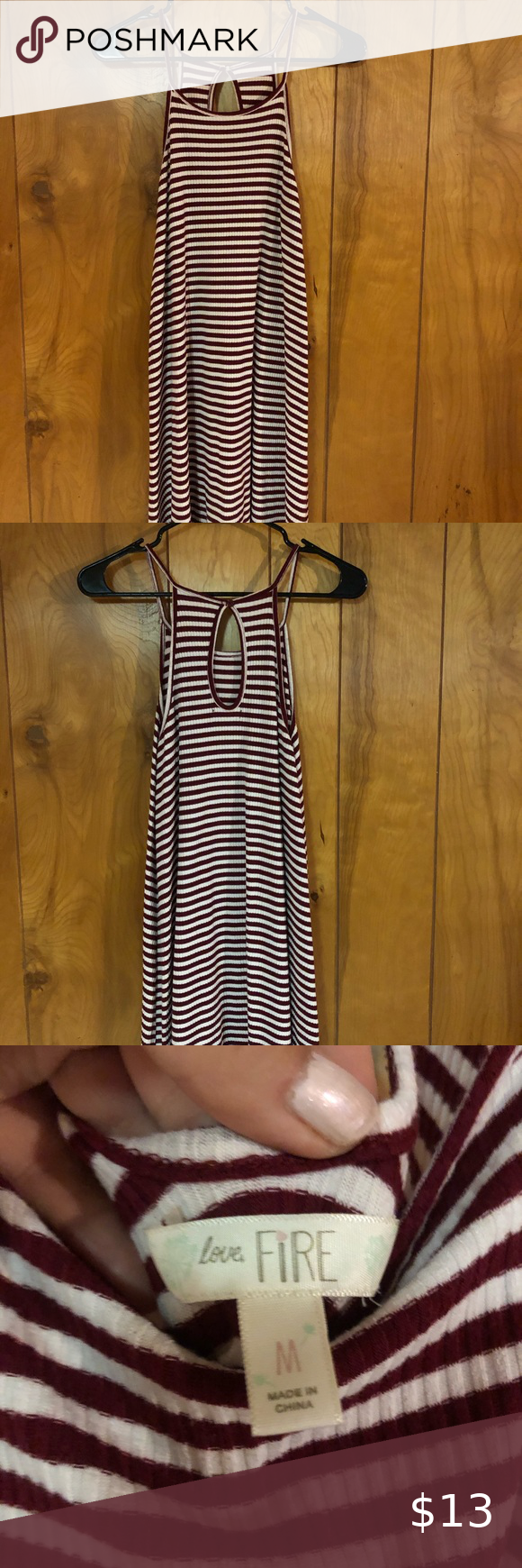 Striped Summer Dress Flowy Maroon And White Striped Dress Slightly Stretchy Material And Is So Comfy Striped Dress Summer Summer Dresses Flowy Summer Dresses [ 1740 x 580 Pixel ]