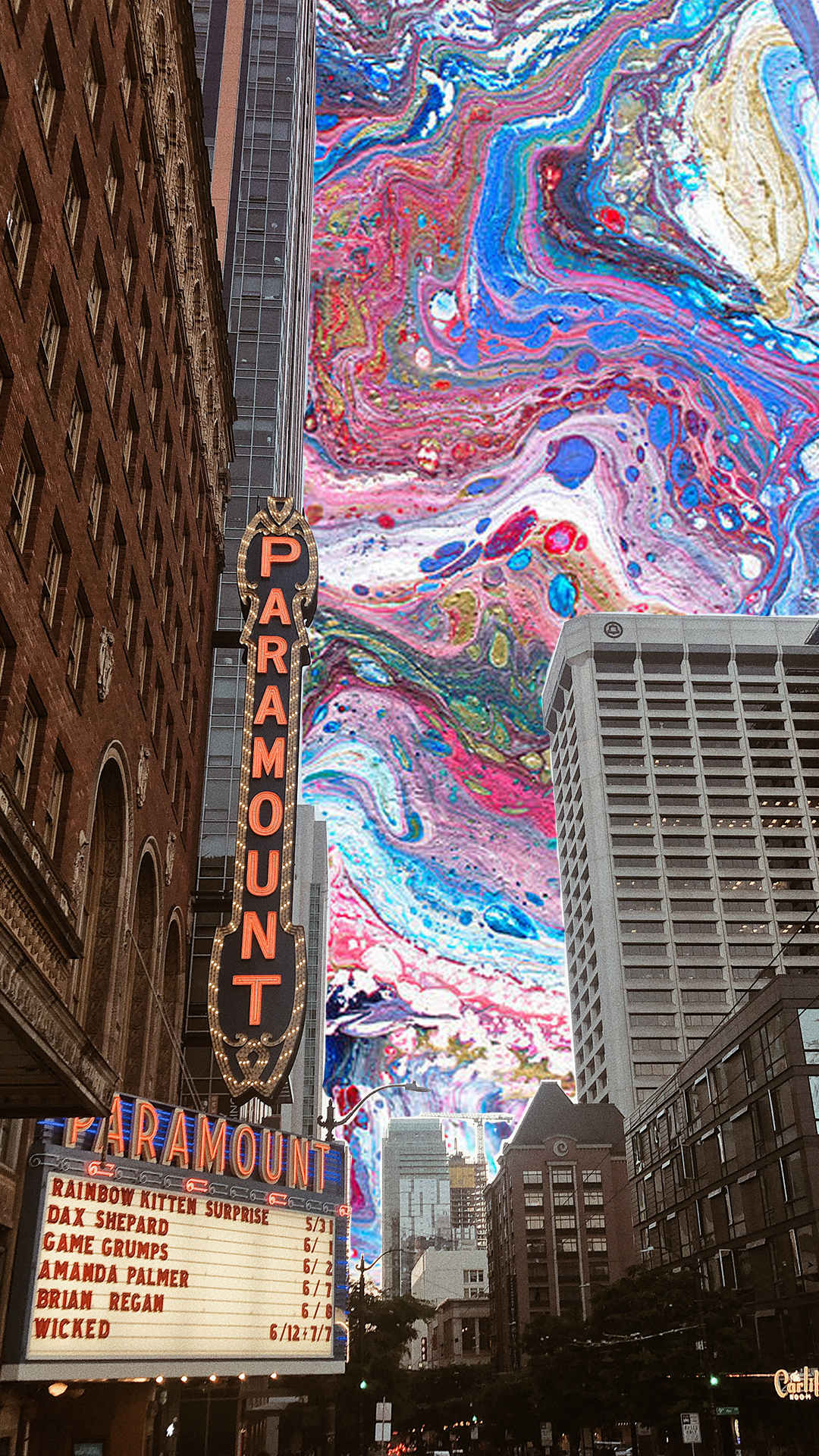 Rainbow Kitten Surprise Seattle Wa Paramount Theater Trippy Wallpaper Trippy Pictures Trippy Photos