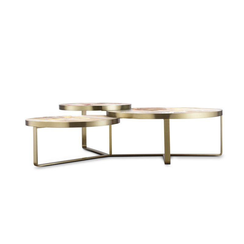 Smoked Green Walnut Coffee Table Coffee Table With Storage
