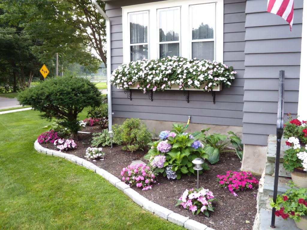front yard flower bed landscaping ideas racetotop for how to
