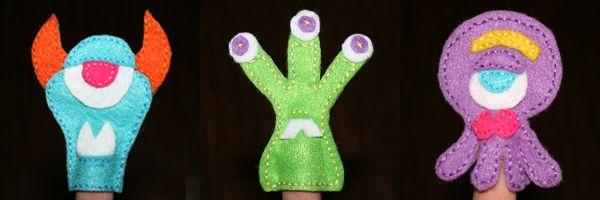 So Weird! Alien Felt Finger Puppets - Free Pattern!