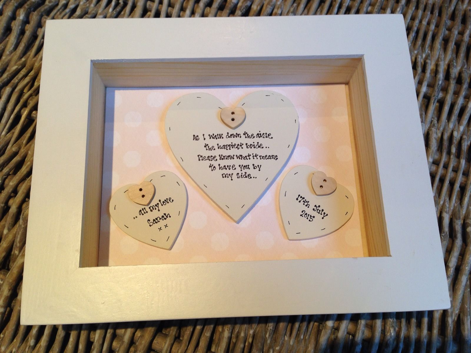 Shabby Personalised Chic Bix Frame Gift For Bridesmaid Matron Maid Of Honour Ebay