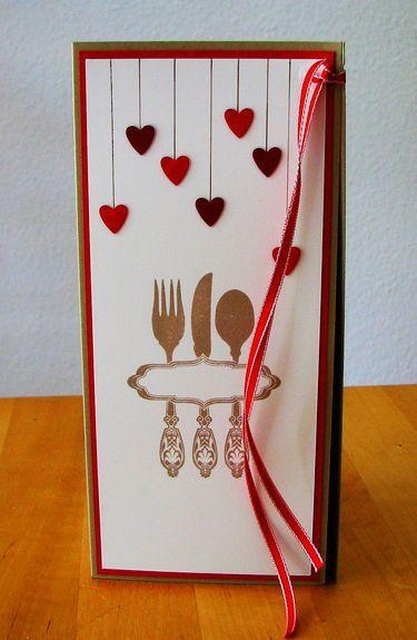 Menükarte zur Hochzeit von Smilland