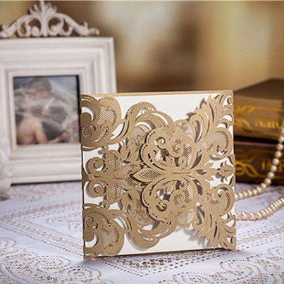 goldene hochzeit einladungskarten einsteckkarten kpl044 | wedding, Einladung