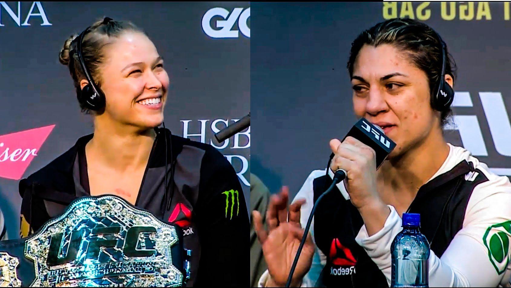 Ufc 190 Post Fight Press Conference Ronda Rousey Vs Bethe Correia
