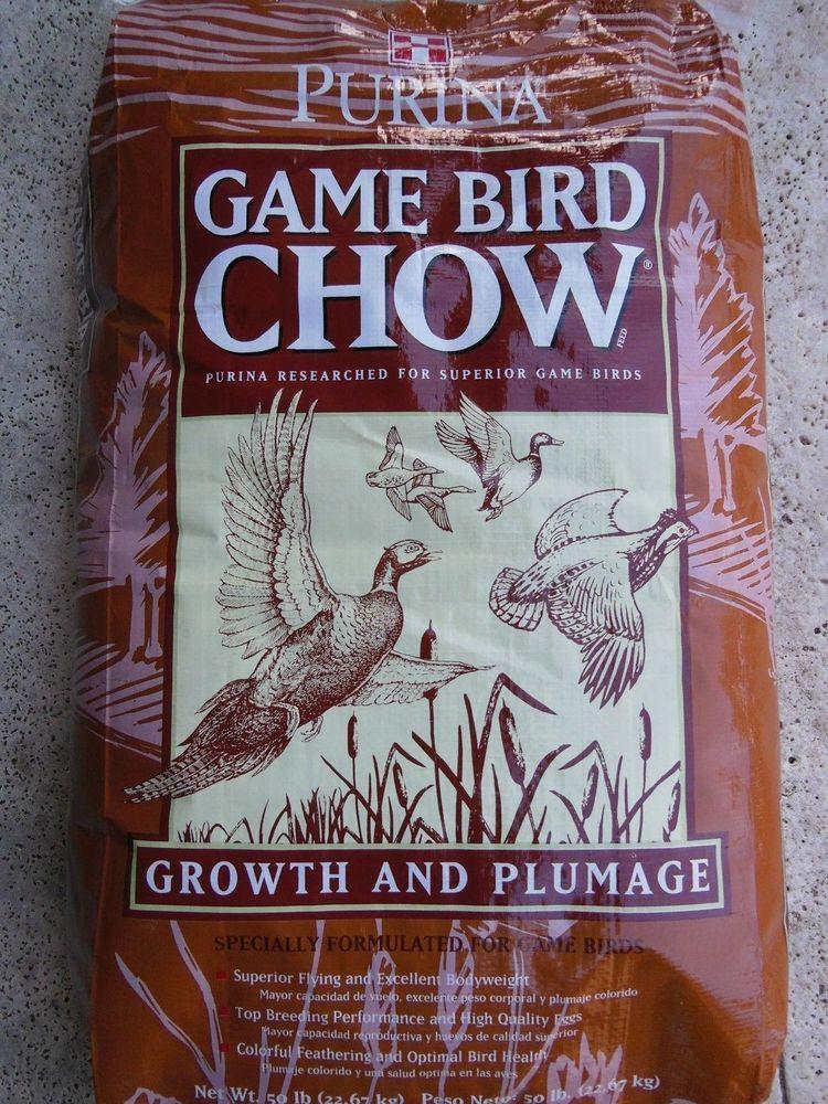 Gamebird feed chow Purina Protein Chicken Guinea Turkey