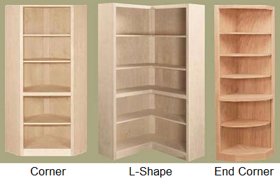 End Corner Contemporary Maple Unfinished Furniture Unfinished Furniture Bookshelves Diy Corner Furniture
