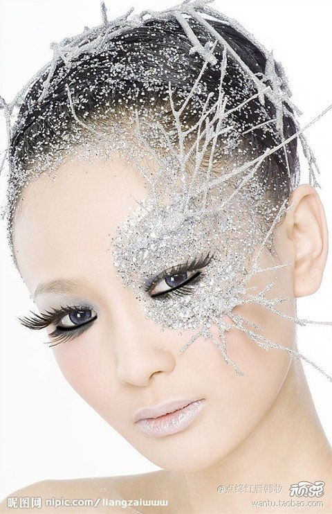 Ice Queen Costume Makeup Twigs Near Our Eyes Are Probably A Good