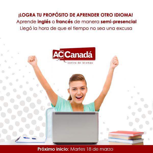 Aprende inglés o francés con ACCanadá en la modalidad semi-presencial. ¡Notarás el resultado!  Regístrate para conocer más: http://190.144.31.94/acsolutions/jobs/publicregistro/RFloRzkzYjBxeUpmSXhmczJndVZvVXViV3d2bmlSMkcwRmdhQzltYXNkYXNkaQ==:7685934234309657453542496749683645/Y2FtcGFpbg==:17/a2V5Zm9ybQ==:RFloRzkzYjBxeUpmSXhmczJndVZvVXViV3d2bmlSMkcwRmdhQzltYXNkYXNkaQ==