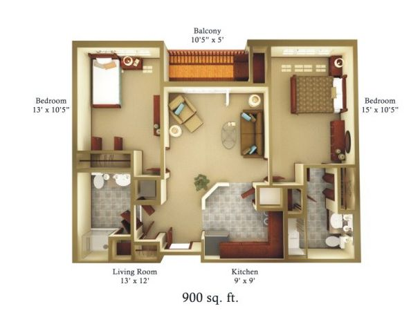 900 square foot house plans for Home design 900 square