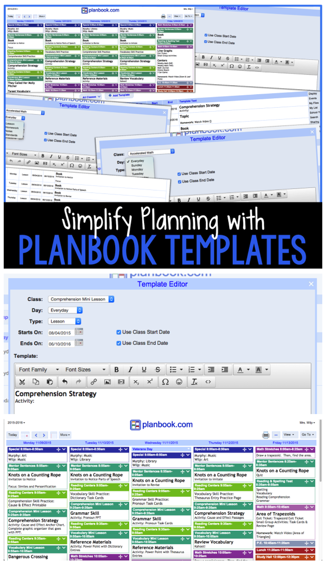 Planbook Com Templates For Faster Easier Lesson Planning The Primary Gal How To Plan Lessons Template Digital Lesson Plans